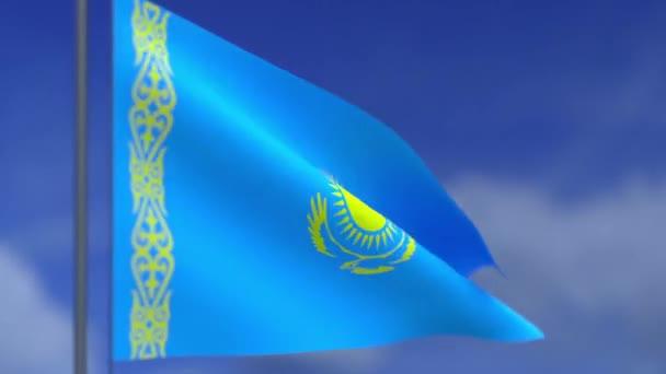 Die Flagge der Republik Kazakhsta