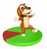 Fényképek aranyos kutya rajzfilmfigura kör alakú jelzés