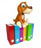 Fotografie roztomilý pes kreslená postava se soubory
