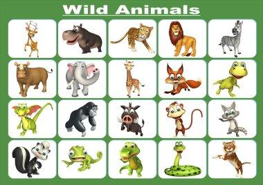 group of wild animal chart