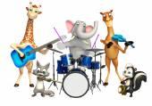 Fotografie wildes Tier mit Musikinstrument