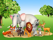 Fotografia gruppo di animali selvatici