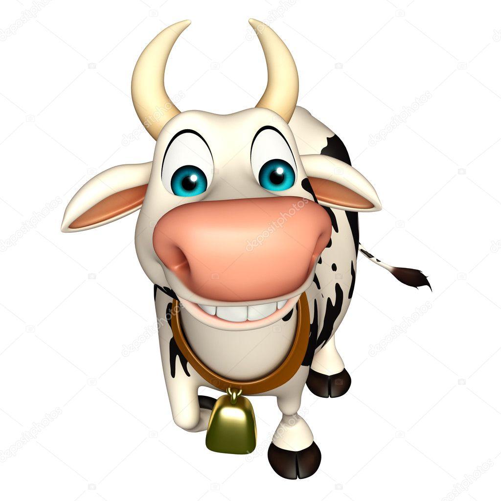 Amusant personnage de dessin anim dr le de vache photographie visible3dscience 102656130 - Photo de vache drole ...