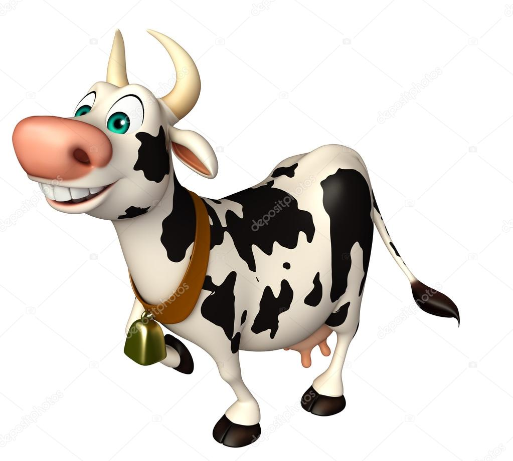 Amusant personnage de dessin anim dr le de vache photographie visible3dscience 102656466 - Photo de vache drole ...