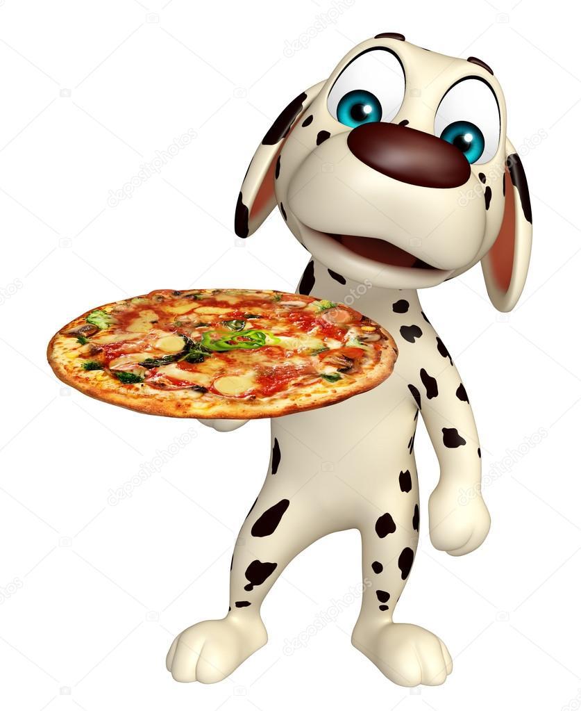 Simpatico personaggio dei cartoni animati di cane con