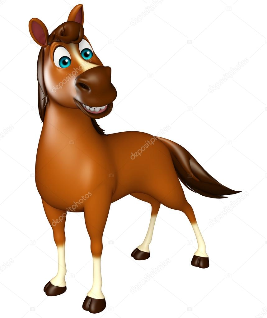 Funny Horse Cartoon Character Stock Photo C Visible3dscience 102773110