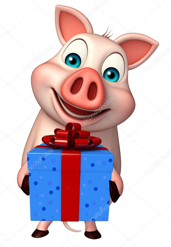 Vendite online maiale di cartone animato figurine giocattolo della