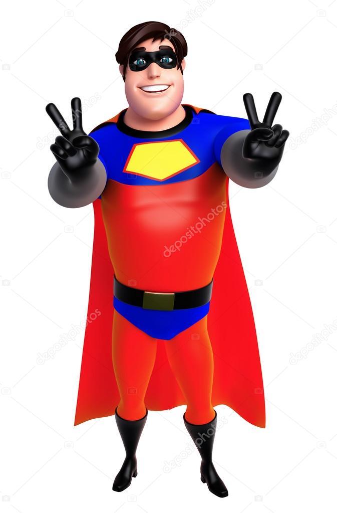 Ilustração de renderizado 3D de super-herói com pose de vitória —  Fotografia de Stock 11ef4e7fadc12