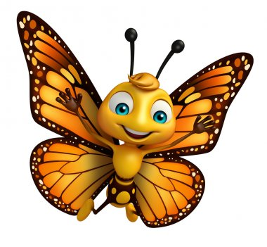 cute Butterfly cartoon character