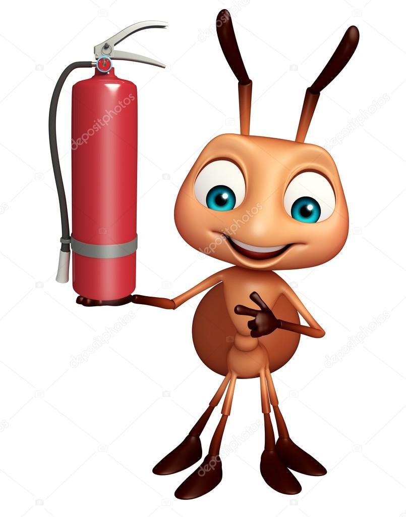 Divertido personagem de desenho animado formiga com