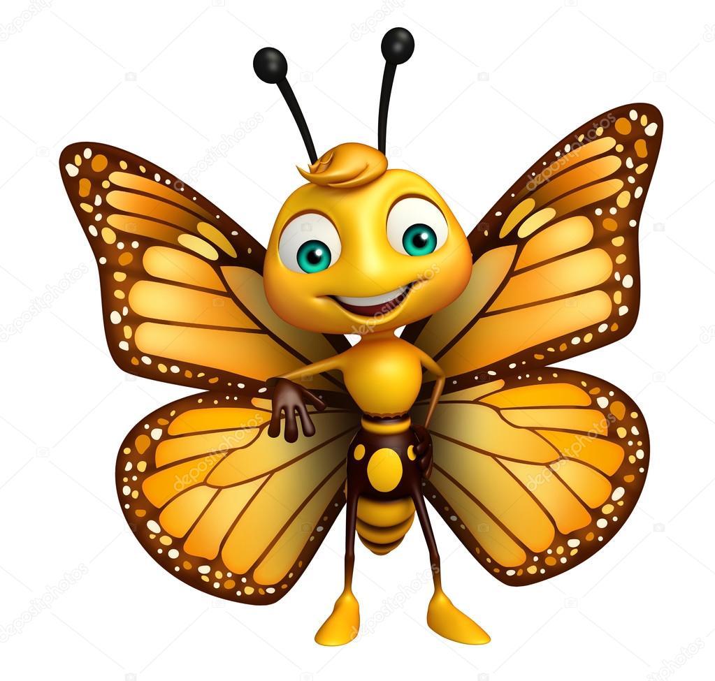 Rolig fj ril tecknad figur stockfotografi - Papillon dessin couleur ...