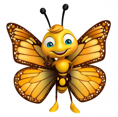 Victory Butterfly cartoon character