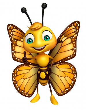thumbs up Butterfly cartoon character