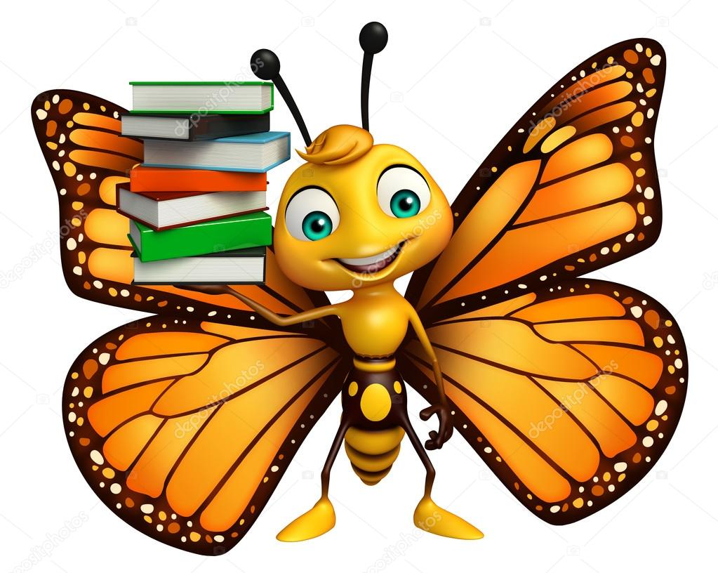 lindo personaje de dibujos animados de mariposa con libros fotos de stock  u00a9 visible3dscience clipart of butterfly on finger clip art of butterflies and flowers