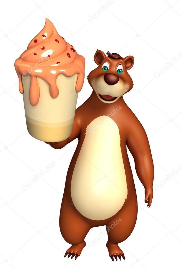 которой картинки медведя с мороженым появление серии