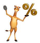 Velbloudí kreslená postava s procenta