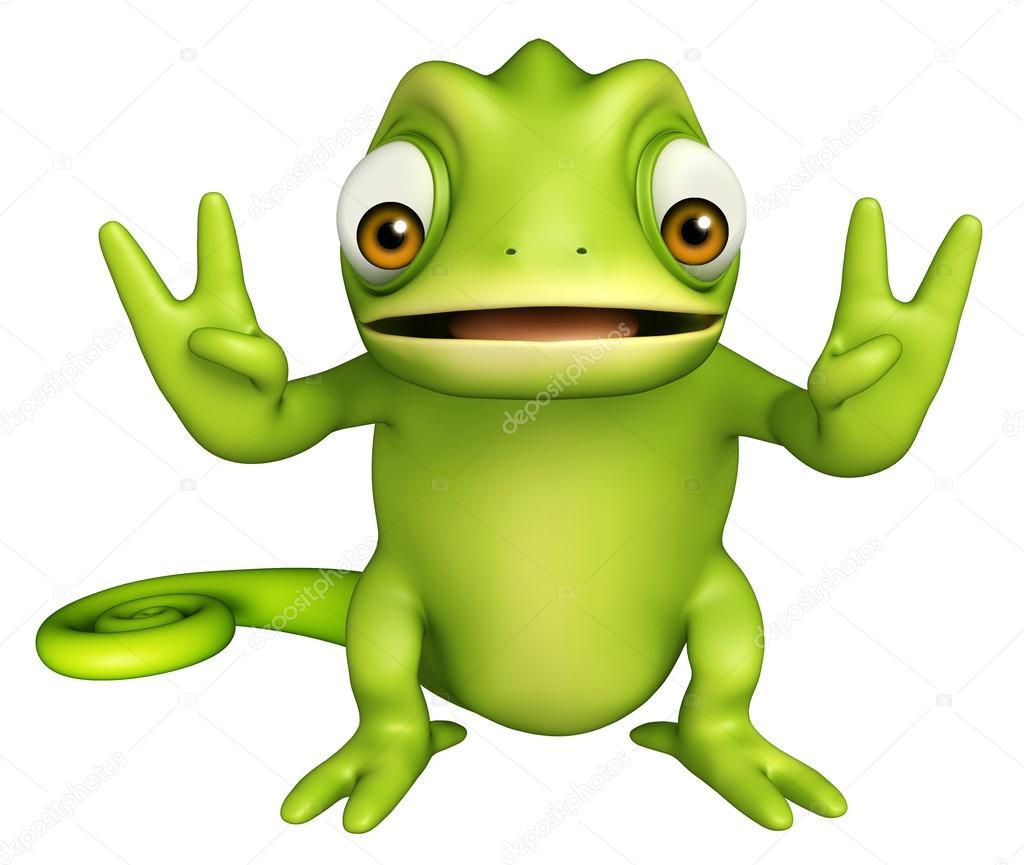 personagem de desenho animado bonita camaleão fotografias de stock