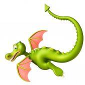 aranyos sárkány vicces rajzfilmfigura