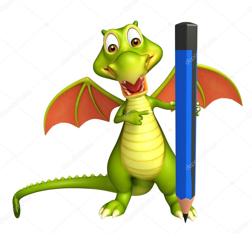 Dibujos Dragones A Lapiz Lindo Personaje De Dibujos Animados De