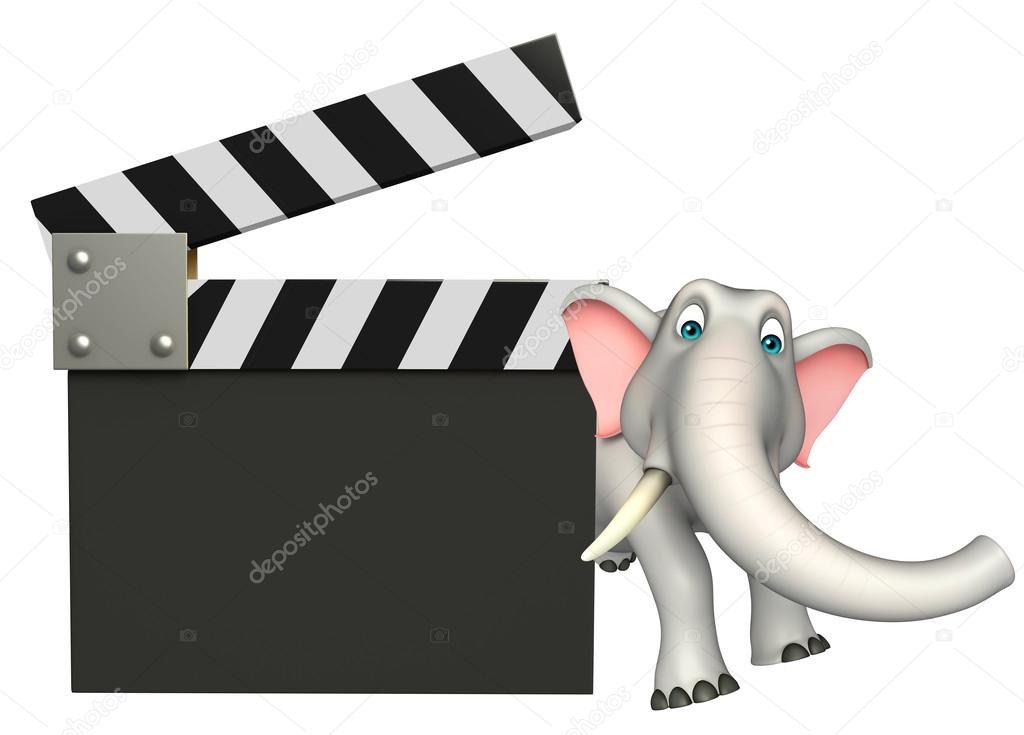 Divertente personaggio dei cartoni animati di elefante con bordo di