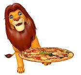 Fotografia Leone del fumetto con pizza