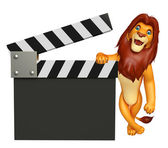 Fotografie cute  Lion cartoon character with clapboard