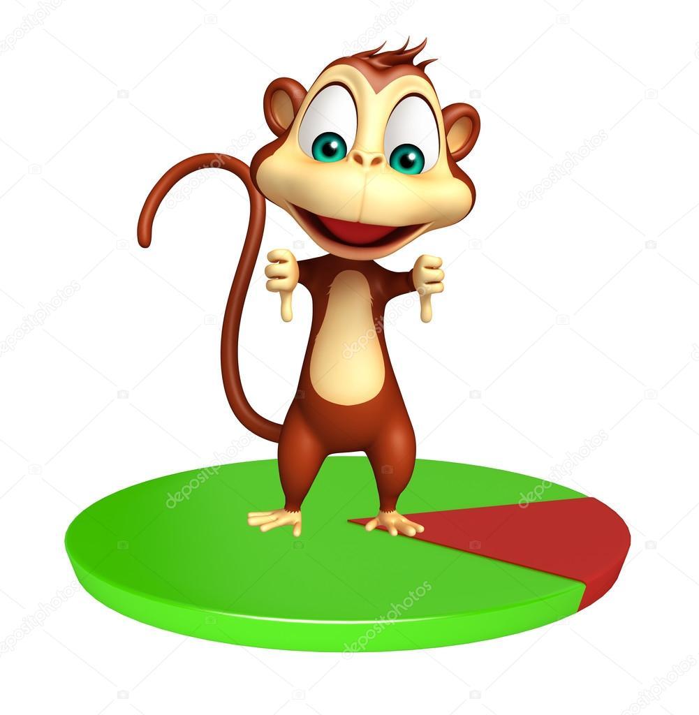 Simpatico personaggio dei cartoni animati di scimmia con il segno