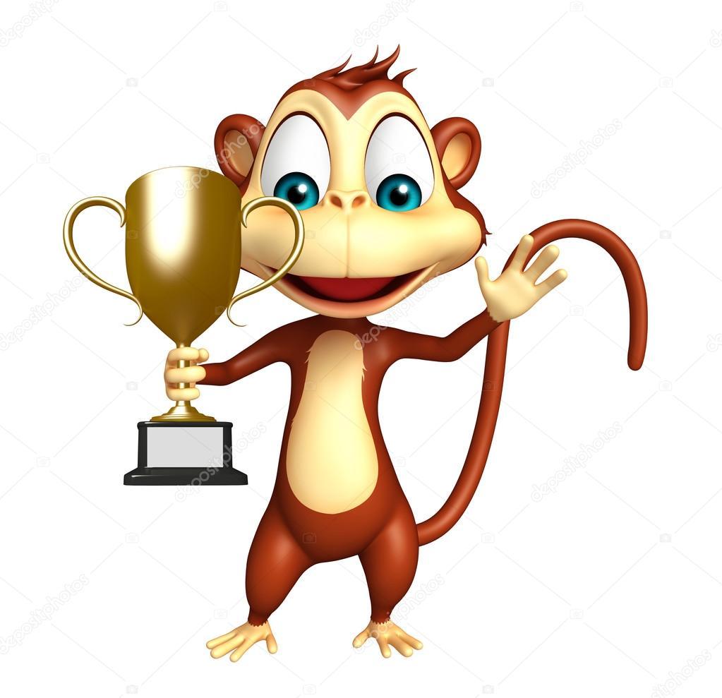 Dibujos animados de monos personajes cerca