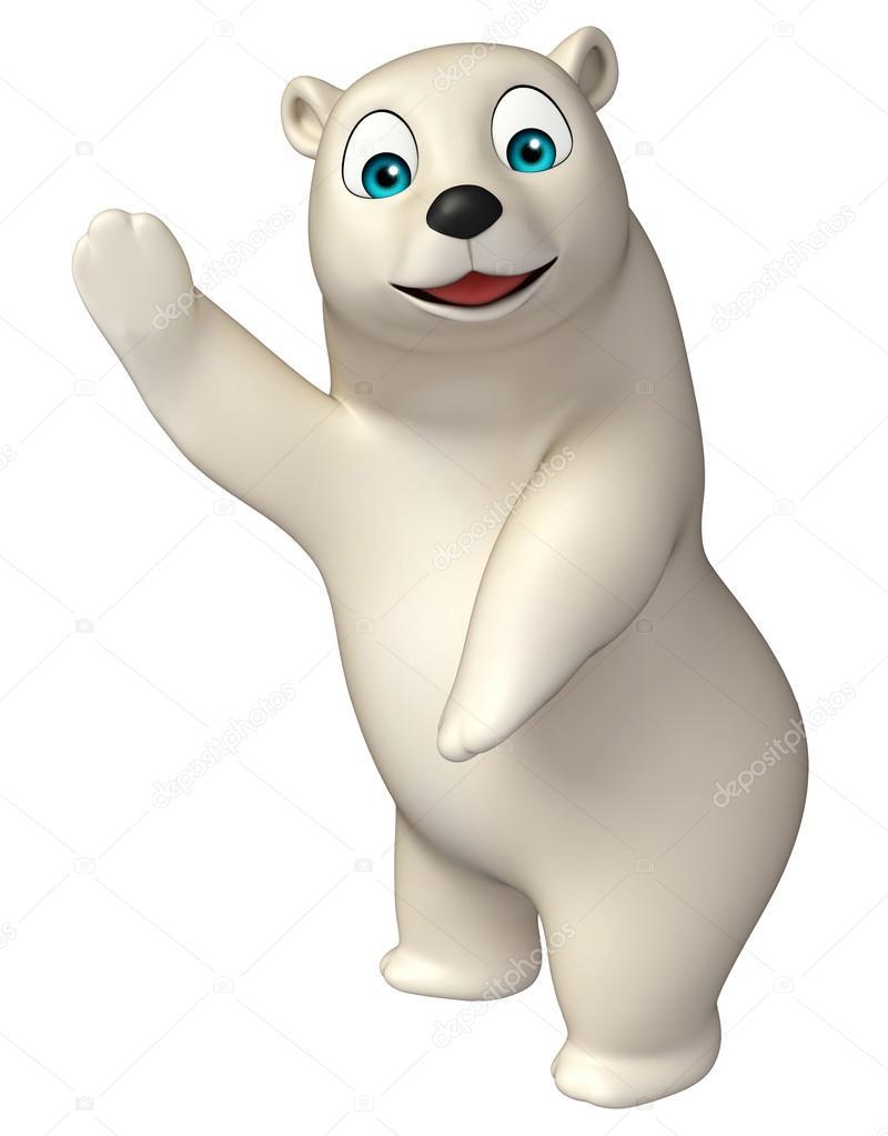 Personaggio dei cartoni animati divertenti orso polare u foto