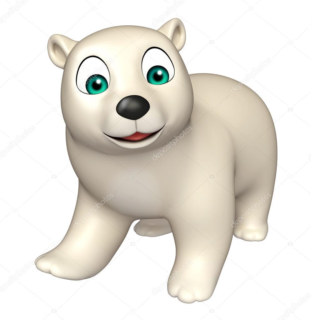 Personaggio dei cartoni animati sveglio dell orso polare u foto