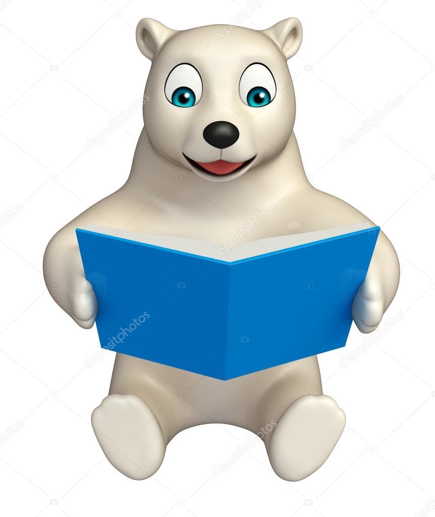 Divertente personaggio dei cartoni animati dell orso polare con i