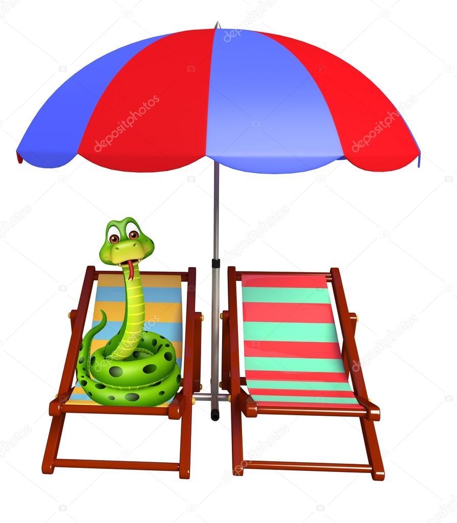 Linda serpiente de dibujos animados car cter con silla de for Sillas para jugar a la play