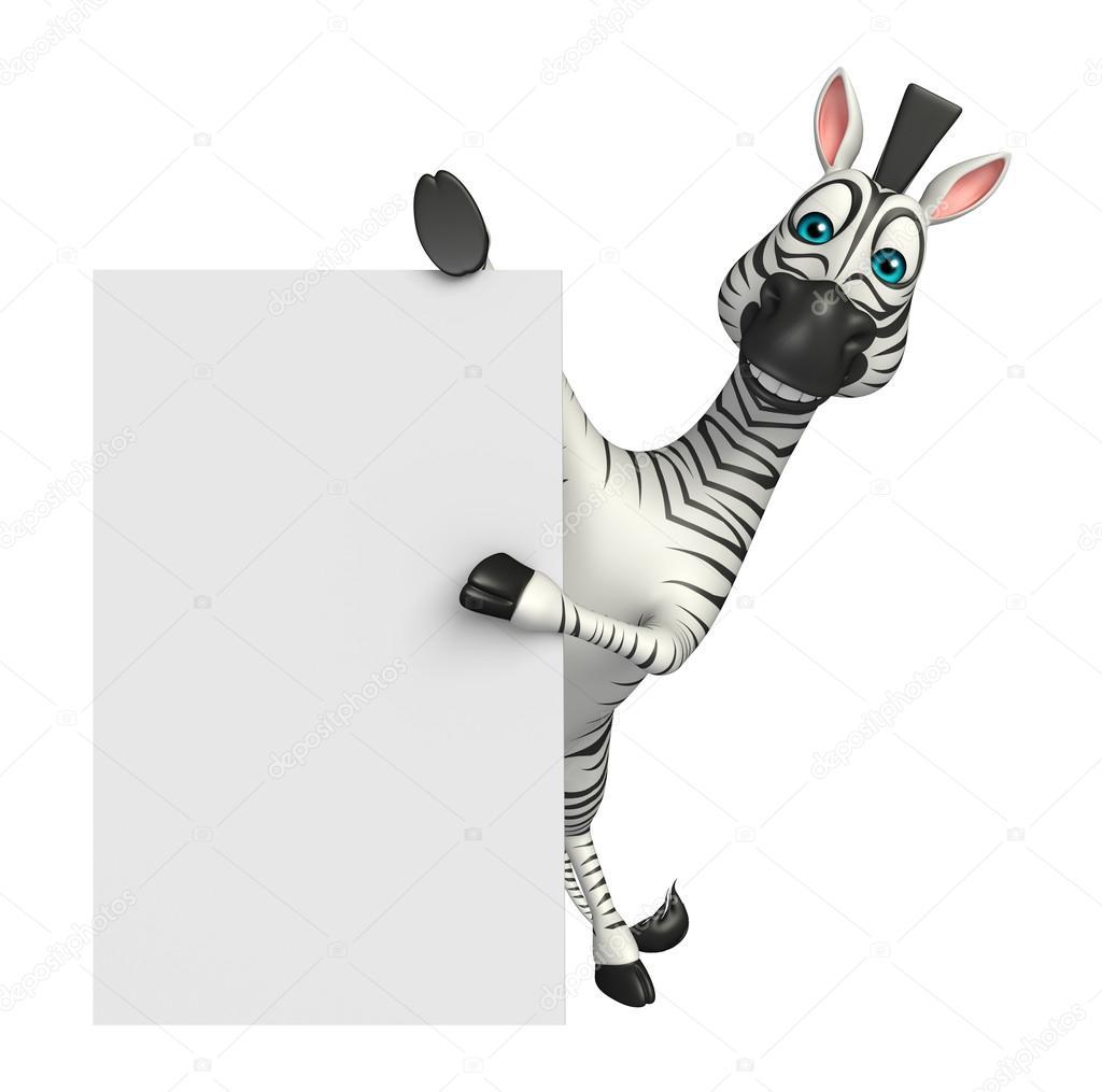 Personaggio dei cartoni animati sveglio della zebra u foto stock