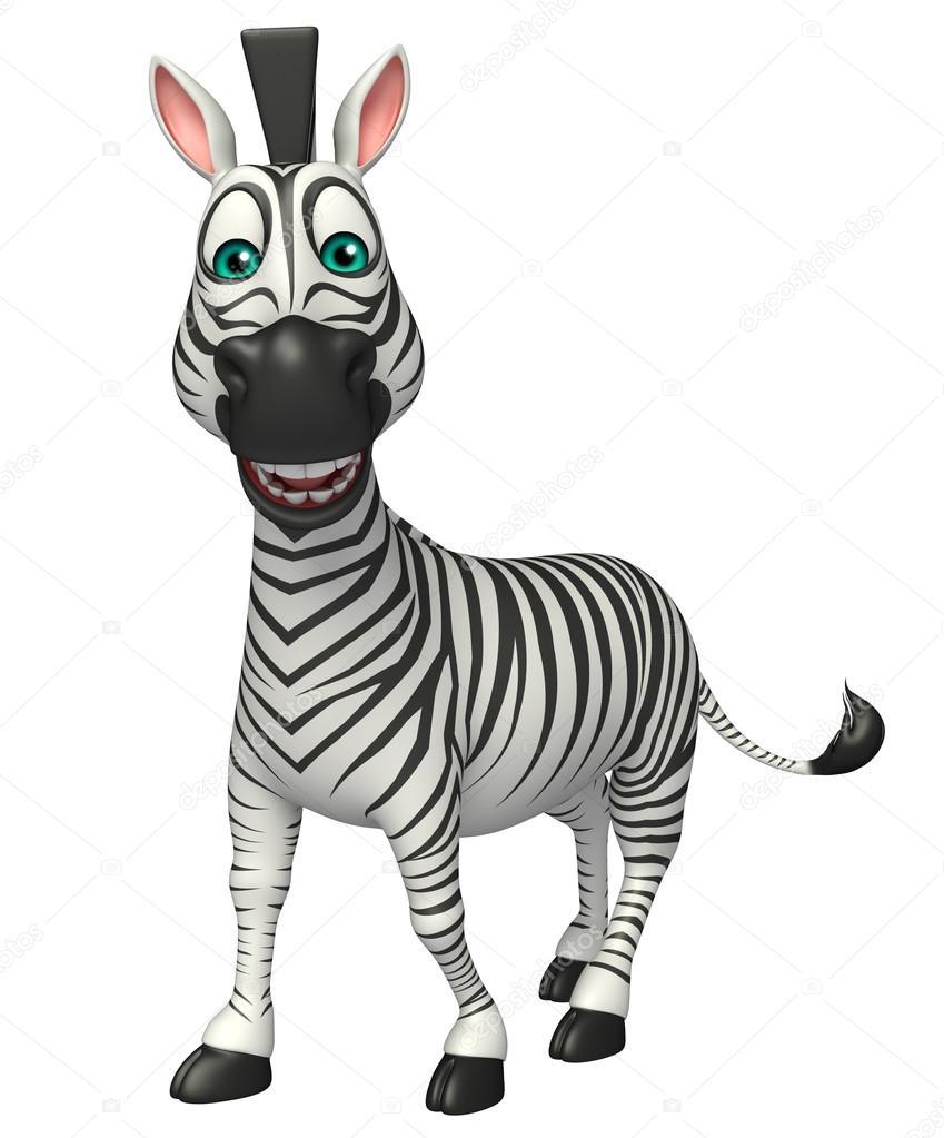 Zebra Engraçado Dos Desenhos Animados O Personagem