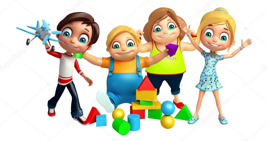 3a6fa6335c4 Παιδί αγόρι κορίτσι και το παιδί με παιχνίδια — Φωτογραφία Αρχείου ...