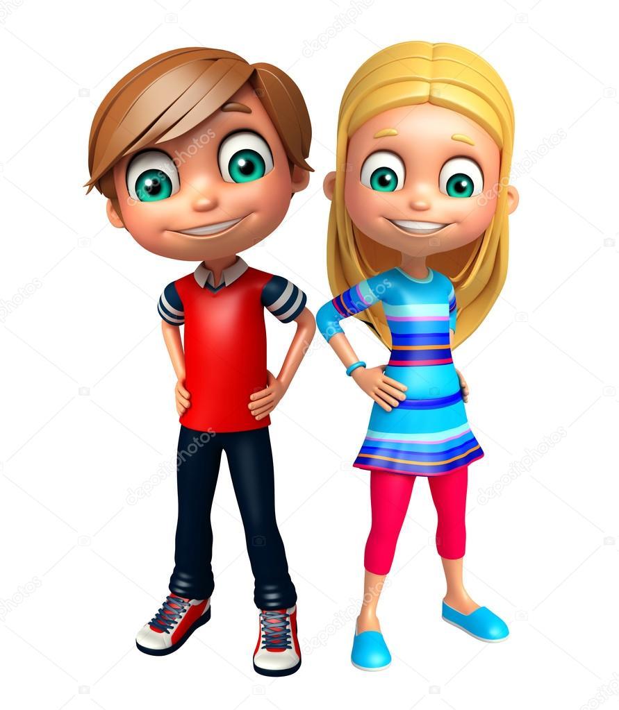 0028f9aa587 παιδί κορίτσι και αγόρι παιδί — Φωτογραφία Αρχείου ...