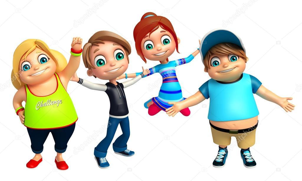 23b6fbea5f3 Παιδί αγόρι και κορίτσι παιδί αστεία πόζα — Φωτογραφία Αρχείου ...