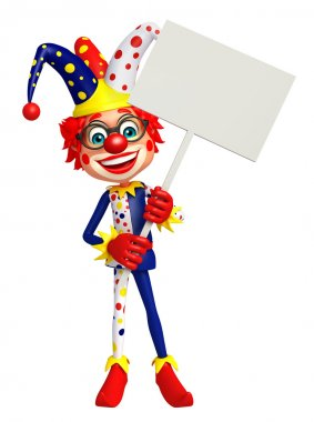 Clown with White board