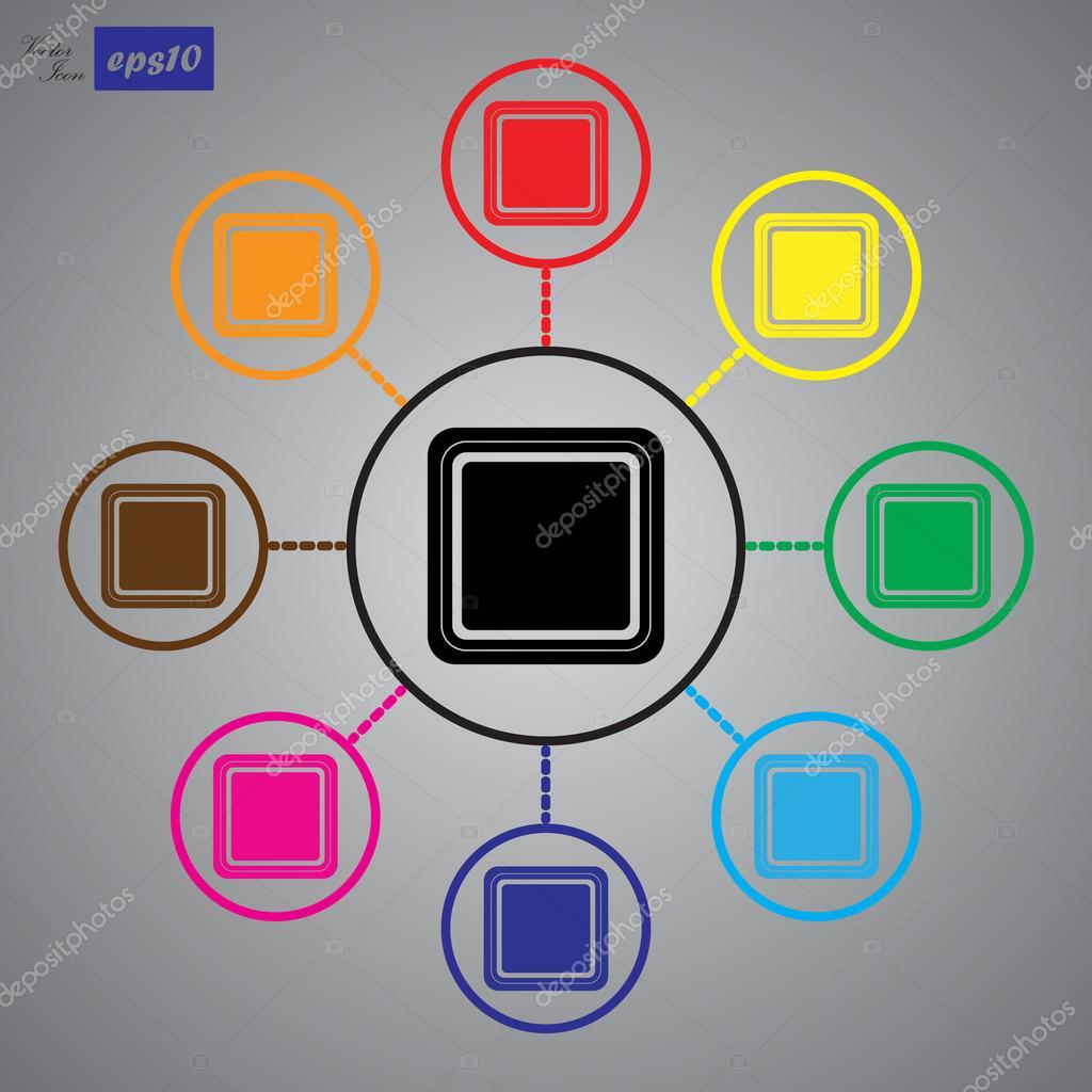 Elektrische Schalter ein Tasten — Stockvektor © SableVector #104084640