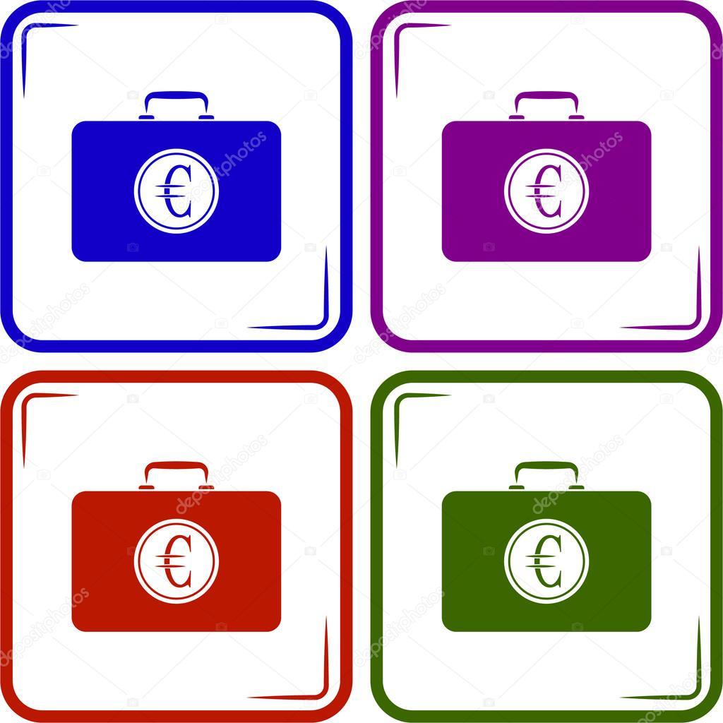 Geschlossenes Gehäuse mit euro — Stockvektor © SableVector #104123770