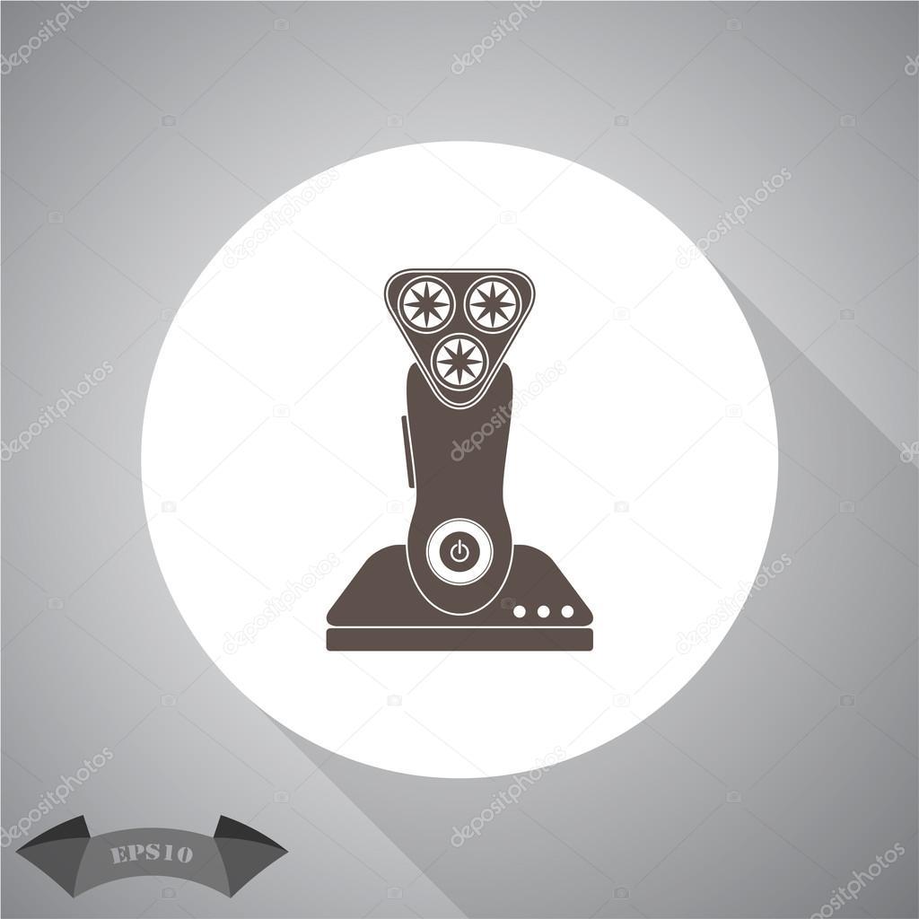 elektrische Rasur Machine-Symbol — Stockvektor © SableVector #105343802