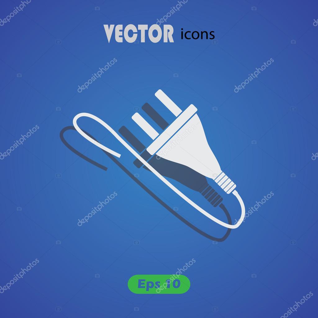 Netzstecker-Vektor-Symbol — Stockvektor © SableVector #106496836