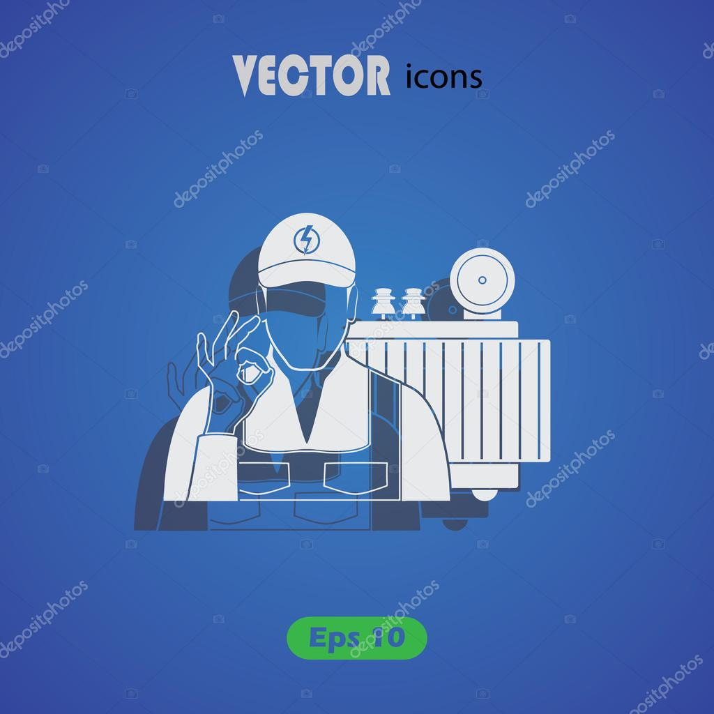 Elektro Transformator-Symbol — Stockvektor © SableVector #106497088