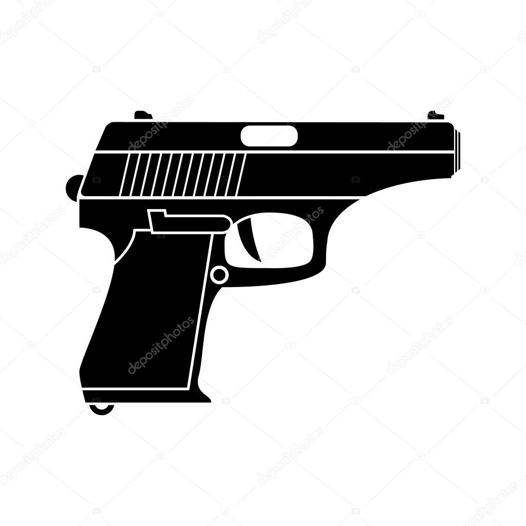 classic pistol vector simple black icon old handgun silhouette flat style for web and mobile premium vector in adobe illustrator ai ai format encapsulated postscript eps eps format wdrfree