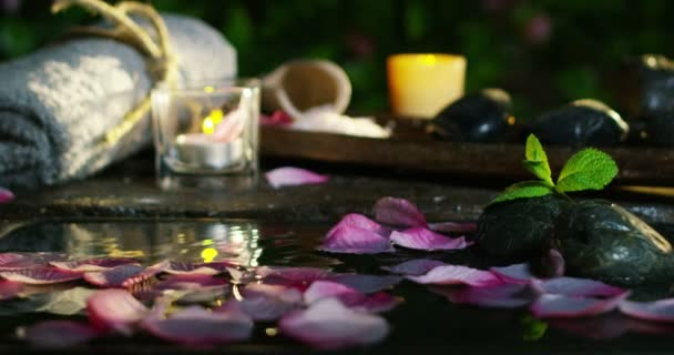 sauna and wellness relax in extreme slowmotion and romantic atmosphere