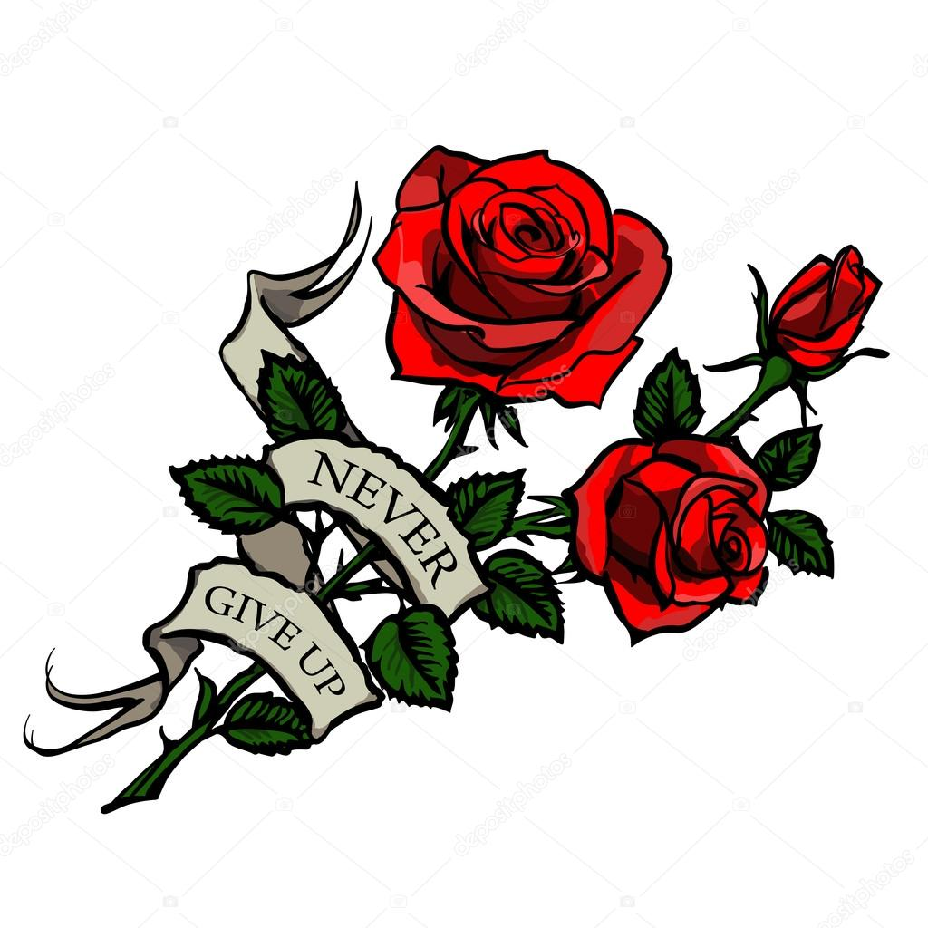 Imágenes Tatuajes De Rosas Vector Del Tatuaje De Rosas Vector
