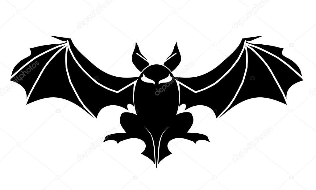 fledermaus tattoo symbol f r halloween stockvektor maslenok68 103580788. Black Bedroom Furniture Sets. Home Design Ideas