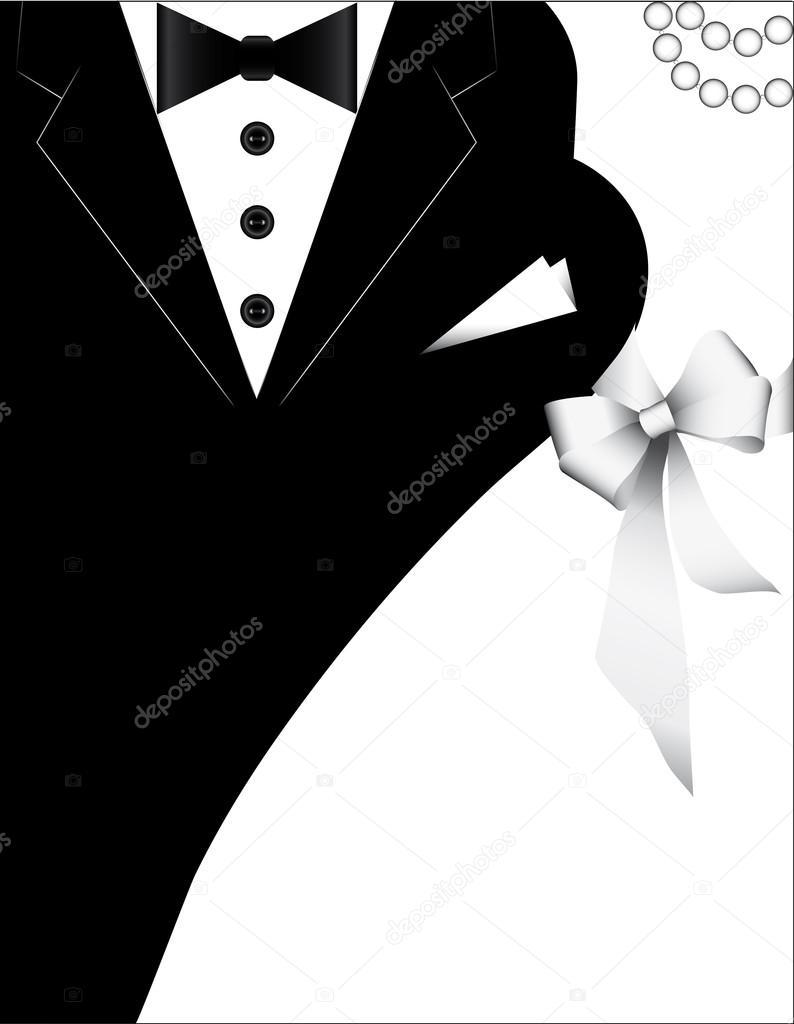 d9b4a782694f Trajes para bodas, diseño para la tarjeta de invitación. Bandera de ...