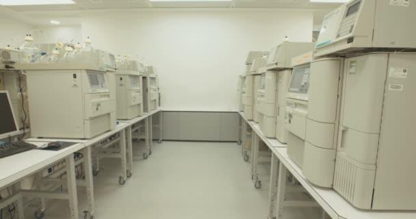 Pharma company, drugs and medicines production, interior
