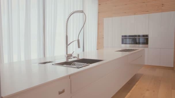 Sledování snímku luxusní kuchyně